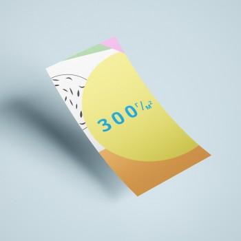 Флаеры на бумаге 300 г/м2