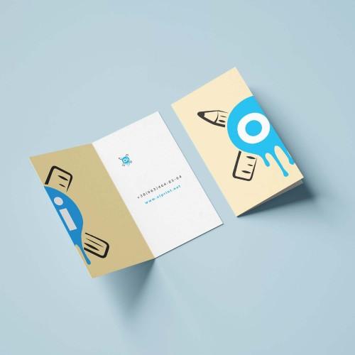 Двойная визитка с биговкой